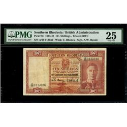 Salisbury, Southern Rhodesia, South Rhodesia Currency Board, 10 shillings, 15-1-1947, serial A/66 01