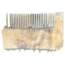 Ivory lice comb, ex-1733 Fleet, ex-Meylach.