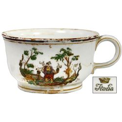 Large chinoiserie First Class cup by Richard Ginori, ex-Andrea Doria (1956), ex-Malone.