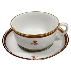 Large First Class cup with saucer by Richard Ginori, ex-Andrea Doria (1956), ex-Malone.