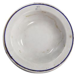 Porcelain serving bowl by Richard Ginori, ex-Andrea Doria (1956), ex-Malone.