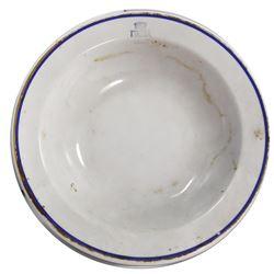 Porcelain serving bowl by Richard Ginori, ex-Andrea Doria (1956), ex-Malone.