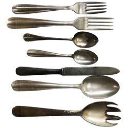 Lot of seven pieces of silver/flatware by F. Broggi, ex-Andrea Doria (1956), ex-Malone.