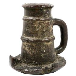Large Spanish colonial bronze signal cannon (mortar) with rounded bottom, 1600s-1700s.