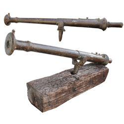 Dutch East Indian (Indonesian) bronze lantaka (cannon) with original yoke (1800s).
