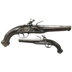 European flintlock pistol, mid-1700s.