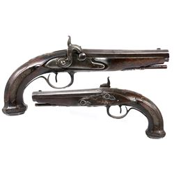 European .70 caliber officer's flintlock pistol, late 1700s.