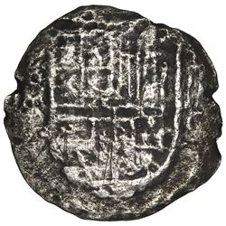 Mexico City, Mexico, cob 8 reales, Philip III, assayer not visible (F), ex-Jones (Plate Coin).