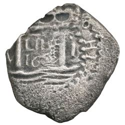 Lima, Peru, cob 1 real,  Star of Lima  type, 1659(V).
