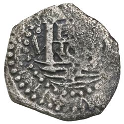 "Lima, Peru, cob 1 real, ""Star of Lima"" type, 16(59)V."