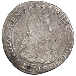 Brabant (Brussels mint), Spanish Netherlands, portrait ducatoon, Philip IV, 1657, ex-Jones.