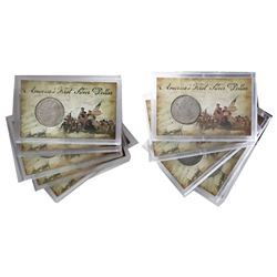 Lot of ten Mexico City, Mexico, bust 8 reales, Charles III, 1783FF, in hard-plastic promotional hold