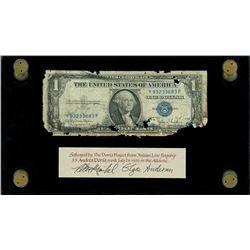 USA, silver certificate, $1, series 1935D, serial Y93233683F, Clark-Snyder, narrow reverse border, e