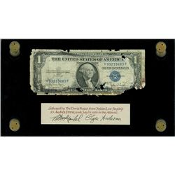 USA, silver certificate, $1, series 1935D, serial Y93233683F, Clark-Snyder, narrow reverse border, e