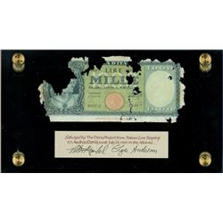 Italy, Banca D'Italia, 1000 lire, 20-3-1947, serial N49 / 090512, Einaudi-Urbini, ex-Malone.
