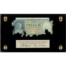 Italy, Banca D'Italia, 1000 lire, 20-3-1947, serial Q23 / 094385, Einaudi-Urbini, ex-Malone.