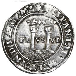"""Mexico City, Mexico, 1 real, Charles-Joanna, """"Late Series,"""" assayer G to right, mintmark M to left ("""