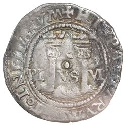 """Mexico City, Mexico, 1 real, Charles-Joanna, """"Late Series,"""" assayer O to right, mintmark oM to left"""