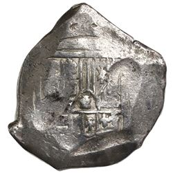 Mexico City, Mexico, cob 8 reales, Philip IV, assayer not visible (P), with chopmark as from circula