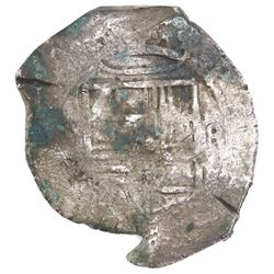 Mexico City, Mexico, cob 8 reales, Philip IV, assayer not visible, with chopmarks as from circulatio