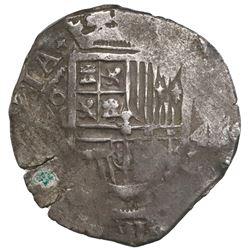 Mexico City, Mexico, cob 4 reales, Philip III, assayer not visible (F, pre-1607).