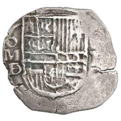 Mexico City, Mexico, cob 1 real, Philip III, assayer D/F (1618).