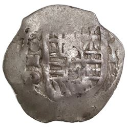 Mexico City, Mexico, cob 1 real, Philip IV, assayer P.