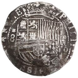 Lima, Peru, cob 8 reales, Philip II, assayer Diego de la Torre, *-8 to left, P-oD to right, ex-Jones