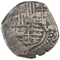 Potosi, Bolivia, cob 8 reales, Philip III, assayer not visible (T, ca. 1621), quadrants of cross and