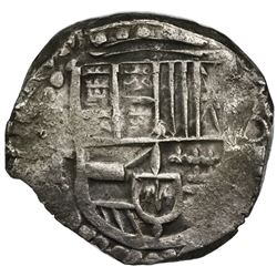 Potosi, Bolivia, cob 8 reales, Philip IV, assayer T (ca. 1628).