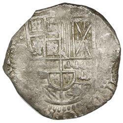 Potosi, Bolivia, cob 8 reales, (162)9(T), fine-dot borders, denomination 8, ex-Panama Hoard.