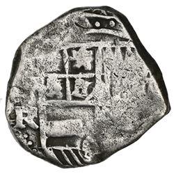 Potosi, Bolivia, cob 4 reales, Philip IV, assayer FR.