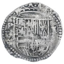 Potosi, Bolivia, cob 1 real, Philip II, assayer L (1st period).