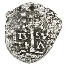 Potosi, Bolivia, cob 1/2 real, (1652E) Transitional, McLean Type IIb, Mastalir Plate Coin.
