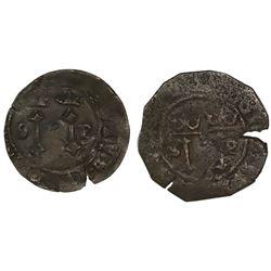 Lot of two Santo Domingo, Dominican Republic, copper 4 maravedis, Charles-Joanna, assayer F to left,