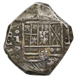Toledo, Spain, cob 4 reales, Philip IV, assayer P.