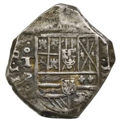 Toledo, Spain, cob 4 reales, Philip IV, assayer P.