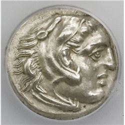 Kingdom of Macedon, AR drachm, Alexander III (the Great), 336-323 BC, early posthumous issue, Lampsa