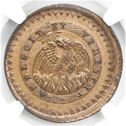 Buenos Aires, Argentina, 20 decimos, 1830, NGC AU details / cleaned, ex-O'Brien.