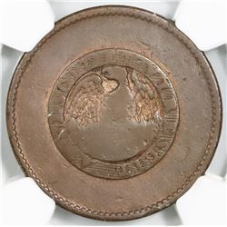 Buenos Aires, Argentina, 10 decimos, 1828, NGC Fine details / environmental damage, finest and only