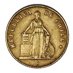 Santiago, Chile, 1 peso, 1873.