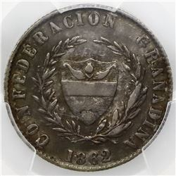 Popayan, Colombia, 2 reales, 1862/48, PCGS XF40.