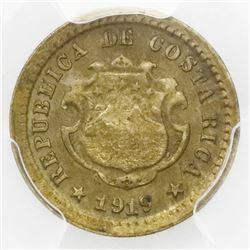 Costa Rica, 5 centavos, 1919G-CR, PCGS AU55.