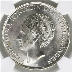 Curacao (struck at the Denver Mint, USA), 2-1/2 gulden, 1944-D, NGC MS 64.