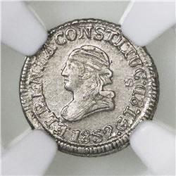 Quito, Ecuador, 1/4 real, 1852GJ, NGC MS 61.