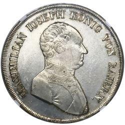 Bavaria (German States), taler, 1808, Maximilian Joseph, NGC AU details / cleaned.