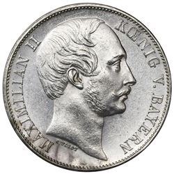 Bavaria (German States), taler, 1863, Maximilian II.
