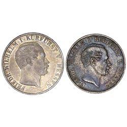 Lot of two Hesse-Cassel (German States), talers of Friedrich Wilhelm: 1854, ex-Gibbs; 1858-CP.