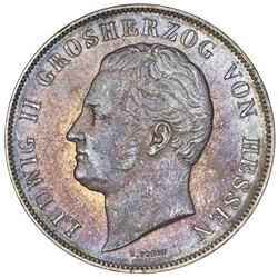 Hesse-Darmstadt (German States), 2 gulden, 1846, Ludwig II.