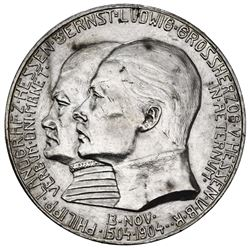 Hesse-Darmstadt (German States), 5 mark, 1904, Ernst Ludwig, birth of Philip the Magnanimous 400th a